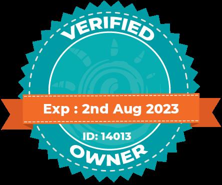 Verified owner badge